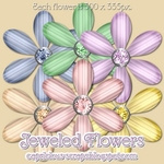"Scrapbook Freebie ""Jeweled Flowers"" by capricious"