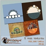 Free scrapbook templates from Hieronique