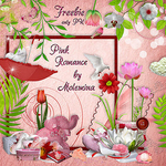 "Scrapbook Freebie KIt ""Pink Romance"" by moleminka"