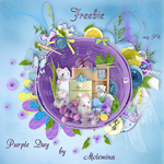 "Freebie scrapbook kit ""Purple day"" from moleminka"