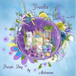 "Freebie scrapbook kit ""Purple day"" from moleminka"