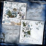 "Free scrapbook quick page ""Snow time"" from Nanly Design – Full size"