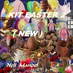 Free scrapbook Easter Kit 2 from Lugar Encantado da Neli