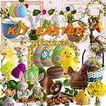 Free scrapbook Easter Kit from Lugar Encantado da Neli