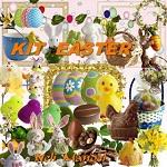 Free scrapbook Easter Kit from Lugar Encantado da Neli