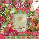 """Free scrapbook """"Secret Garden"""" from Regina Falango Full SIze"""