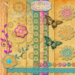 "Free scrapbook kit ""Romantic"" from Regina Falango"