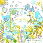 "Free scrapbook kit ""My World"" from Regina Falango"