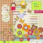 "Free scrapbook kit addon ""For kids"" from Regina Falango"