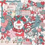 Free scrapbook christmas Santa kit from Regina Falango