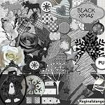 Free scrapbook black Christmas from Regina Falango