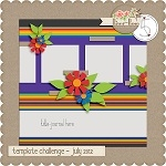 Free scrapbook template from River Rose Design