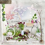 "Free scrapbook kit ""Romantic Mood"" by Artmarty Designs"