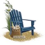 "Free scrapbook cluster ""Sandy Beach""  from Cheyokota digital scraps"