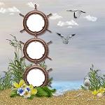 """Free scrapbook QP """"Sea and Sand""""  from Cheyokota digital scraps"""