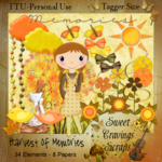 "Scrapbook Autmn Freebie ""Harvest of Memories"" by sweetcravingsscraps"