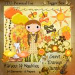 """Scrapbook Autmn Freebie """"Harvest of Memories"""" by sweetcravingsscraps"""
