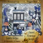 "Scrapbook Freebie ""Silent Night"" by sweetcravingsscraps"