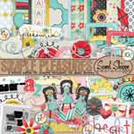 "Free scrapbook kit ""Simple Pleasure"" from Robin from Sweet Shoppe Designs"