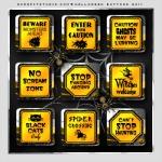 Free digital scrapbook Halloween elements from scrapitstudio