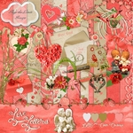 Scrapbook freebie Love Letters by Sky's the limit scraps