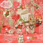 Scrapbook freebie Love Letters by Sky's the limit scraps