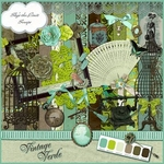 Scrapbook Vintage Verde freebie kit