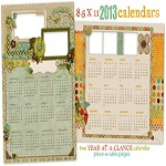 Free digital scrapbook 2013 calendars from ShabbyPrincess