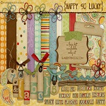 "Free digital scrapbook kit ""Happy Go Lucky"" from ShabbyPrincess"