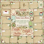 "Free digital scrapbook tags ""Happy  Recipes"" from ShabbyPrincess"
