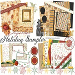 "Free digital scrapbook kit ""Holiday Sampler"" from ShabbyPrincess"