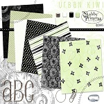 "Free digital scrapbook papers ""Urban Kiwi"" from ShabbyPrincess"