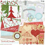"Free digital scrapbook kit ""Seasonal Sampler"" from ShabbyPrincess"