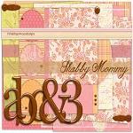"Free digital scrapbook kit ""Shabby Mommy"" from ShabbyPrincess"