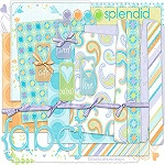 "Free digital scrapbook kit ""Splendid"" from ShabbyPrincess"