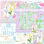 "Free digital scrapbook kit ""Spring Breeze"" from ShabbyPrincess"