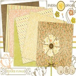"Free digital scrapbook kit ""Vintage Florals"" from ShabbyPrincess"