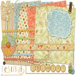 "Free digital scrapbook kit ""Festival"" from ShabbyPrincess"