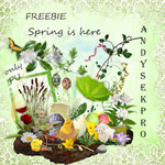 "Free scrapbook kit ""Spring is here"" from andysekpro"