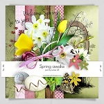 "Free scrapbook collab part ""Spring Awake"" from Elgraphic"