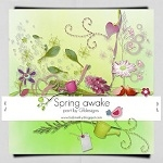 "Free scrapbook collab part ""Spring Awake"" from Gtdesigns"