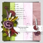 "Free scrapbook collab part ""Spring Awake"" from Padyscrap"