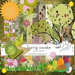 "Free scrapbook collab part ""Spring Awake"" from Andreina"