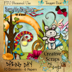 "Scrapbook Freebie ""Spring Day"" by sinfullycreativescraps"