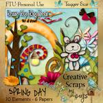 "Scrapbook Freebie ""Spring Day"" by sinfullycreativescraps"