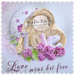 "Scrapbook Freebie mini kit ""Love"" by Studio Em-ka"