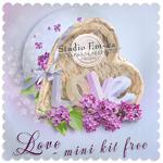 """Scrapbook Freebie mini kit """"Love"""" by Studio Em-ka"""