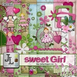 "Free scrapbook kit ""Sweet Girl"" from Jaelop Designs"