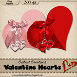 "Free scrapbook elements ""Valentine Hearts"" from swheatcreations"
