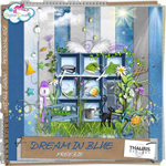 "Free scrapbook kit ""Dream in Blue"" from Thaliris"